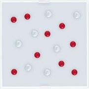 Deckenleuchte Santiago 1 - Klar/Rot, MODERN, Glas/Metall (29/29/6,5cm)