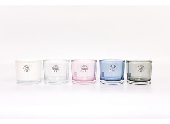 Držák Na Čajovou Svíčku Silke - šedá/bílá, Moderní, sklo (9/8cm) - Mömax modern living