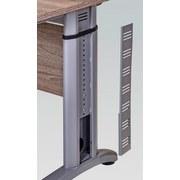 Schreibtisch Höhenverstellbar B 140cm Serie 1210, Trüffel - Eichefarben/Silberfarben, Basics, Holzwerkstoff/Metall (140/91-109,5/65cm) - MID.YOU