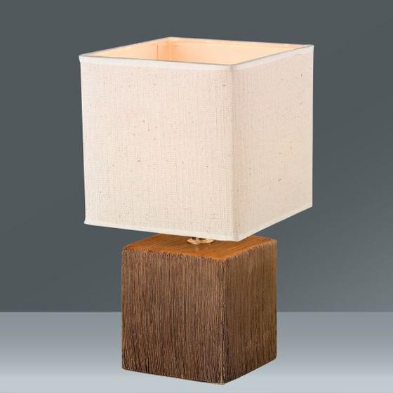 Lampa Stolní Wanda - tmavě hnědá/béžová, textilie/keramika (15,5/28cm) - Mömax modern living