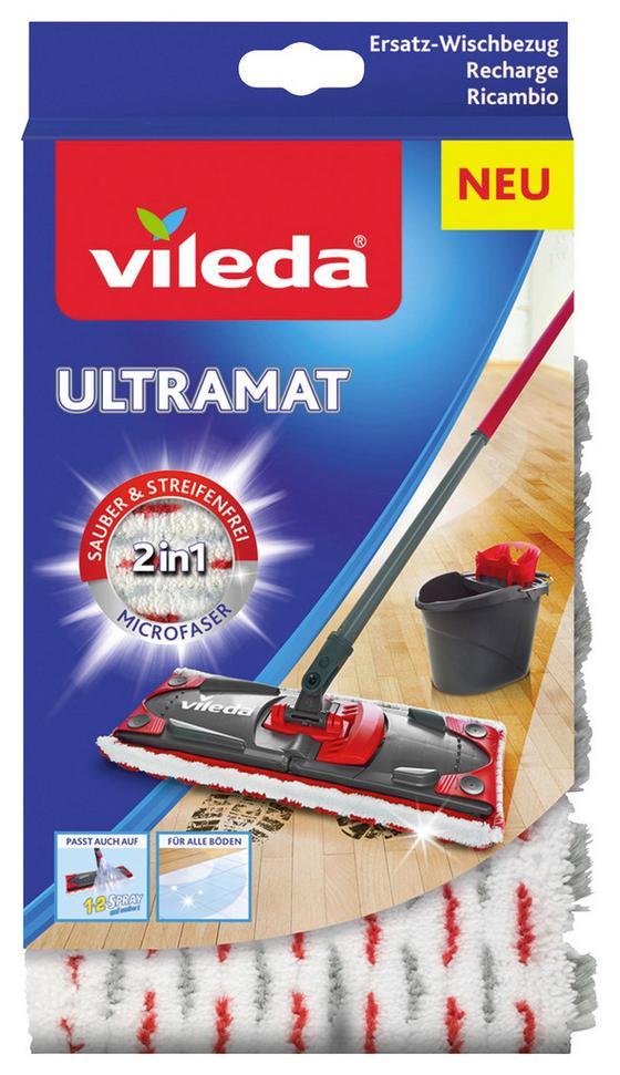 Wischbezug Vileda Ultramat Wischbezug - Blau/Weiß, KONVENTIONELL, Textil (2.5/25.8/14.1cm) - Vileda