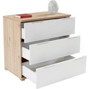 Komoda Florenz - bílá/barvy dubu, Konvenční, dřevěný materiál (100,6/80/46cm)