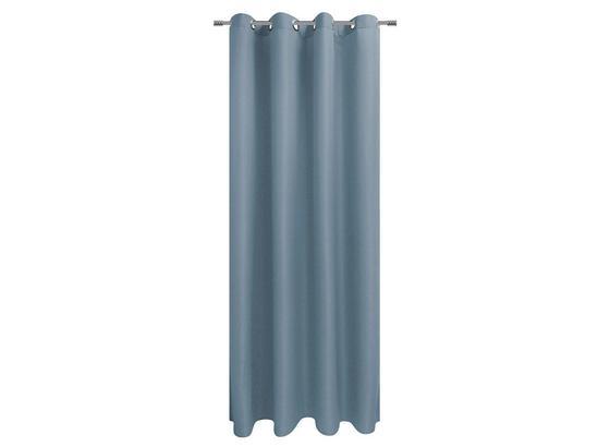 Ösenvorhang Sorrento - Blau, KONVENTIONELL, Textil (140/245cm) - Ombra