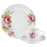 Kaffeeservice Penelope 18tlg., für  6 Personen - Pink/Hellblau, ROMANTIK / LANDHAUS, Keramik - James Wood
