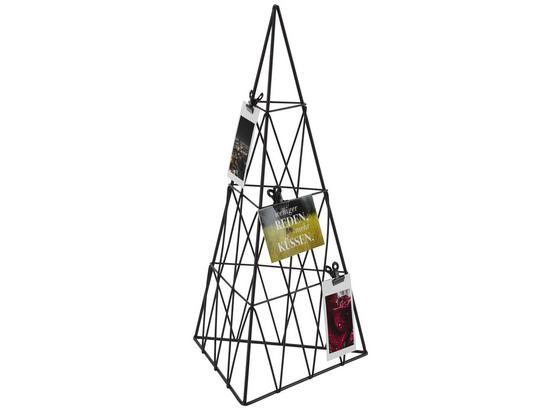 Držiak Na Fotografie Pyramide - čierna, Moderný, kov (20/40cm)