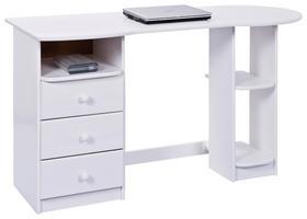 Schreibtisch in Weiß für das Arbeitszimmer