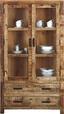 Vitrína Industry - přírodní barvy, Basics, dřevo (100/180/42cm) - James Wood