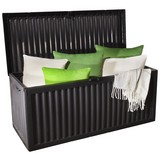 Kissenbox Lara 350 L ca. 120/52/54cm - Anthrazit, KONVENTIONELL, Kunststoff (120/52/54cm) - Ombra