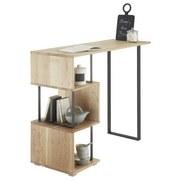 Bartisch Fernando 1 - Eichefarben/Schwarz, Design, Holz/Metall (135/50/105cm) - Livetastic