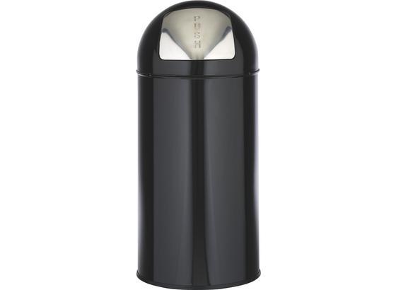 Odpadkový Kôš Push Can - 2-dielna Sada - čierna/farby zinku, kov - Mömax modern living