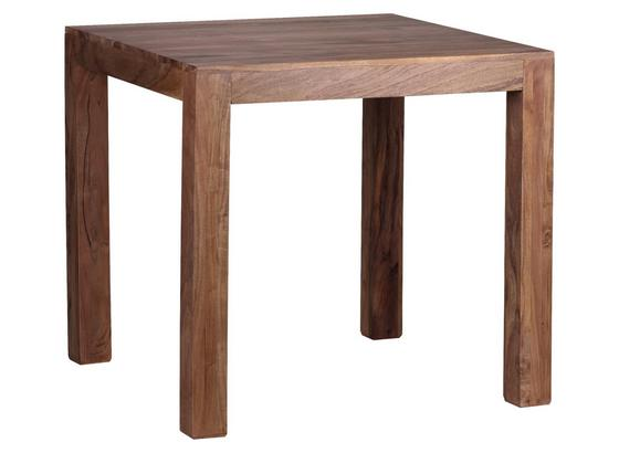 Esstisch Mumbai B: ca. 80 cm - Akaziefarben, MODERN, Holz (80/80/76cm) - Livetastic
