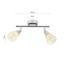 Bodové Svítidlo Tadeus 25cm, 2x40 Watt - Konvenční, kov/sklo (15/25cm)