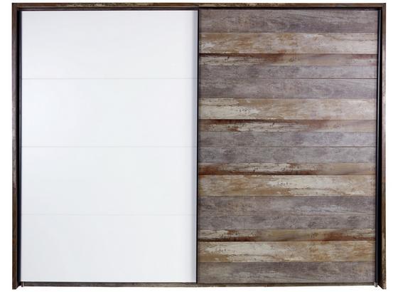 Paspartový Rám Moon - šedá/hnědá, Moderní, kompozitní dřevo (281/215/17,5cm)
