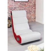 Gamingstuhl Wobble B: 56 cm Rot/Weiß - Rot/Weiß, Design, Textil (56/100/82cm) - Carryhome