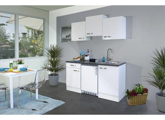 Kuchyňský Blok Alba G150-1001-002 - bílá/barvy břidlice, Moderní, kompozitní dřevo (150cm)