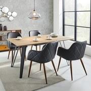 Jídelní Stůl Gino - černá/přírodní barvy, Moderní, kov/dřevo (160/90/76cm) - MÖMAX modern living