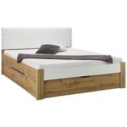Bett Graz Liegefläche ca. 180x200cm - Weiß, KONVENTIONELL, Holzwerkstoff/Textil (180/200cm)