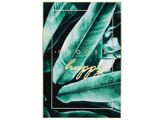 Obraz S Napínacím Rámem Denise - černá/zelená, dřevo/kompozitní dřevo (61,4/91,4/3,5cm) - Modern Living
