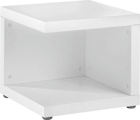 Regál Cubes - biela, Moderný (45/41.5/45cm)