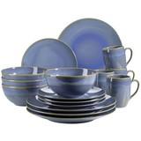 Kombiservice Ossia 16-Tlg - Hellblau, Basics, Keramik