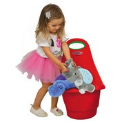 Spielzeugtrolley Rolly Rot - Rot/Grün, Basics, Kunststoff (34/60/43cm)