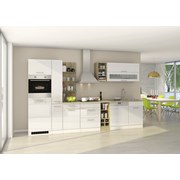 Küchenblock Mailand Gsp B: 340 cm Weiß - Eichefarben/Weiß, Basics, Holzwerkstoff (340cm) - MID.YOU