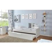 Ausziehbett Theodor 90x200 cm Weiß - Weiß, Natur, Holz/Metall (90/200cm) - MID.YOU
