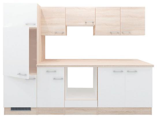 Küche in Eiche Dekor und Weiß