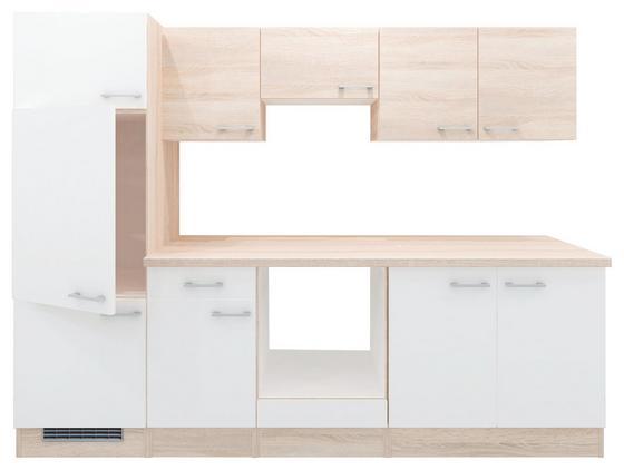 Küchenblock Samoa 955 - Weiß/Sonoma Eiche, KONVENTIONELL, Holzwerkstoff (270cm)