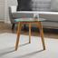Odkládací Stolek Lui - průhledné/barvy buku, Moderní, dřevo/sklo (50/45cm) - Mömax modern living