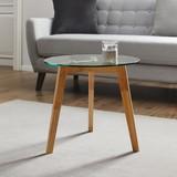Odkladací Stolík Lui - číre, Moderný, drevo/sklo (50/45cm) - Mömax modern living