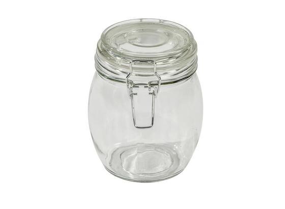 Einmachglas, Ilonka ca. 800ml, Bügelverschluss - Klar, KONVENTIONELL, Glas/Metall (11/14cm) - Luca Bessoni
