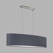 Hängeleuchte Pasteri - Grau/Nickelfarben, MODERN, Textil/Metall (100/28/110cm)