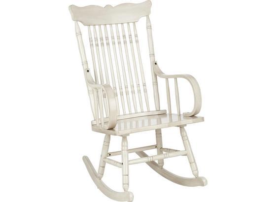 Houpací Křeslo White Sway -trend- - bílá, Romantický / Rustikální, dřevo (81,3/104,1/54,6cm)