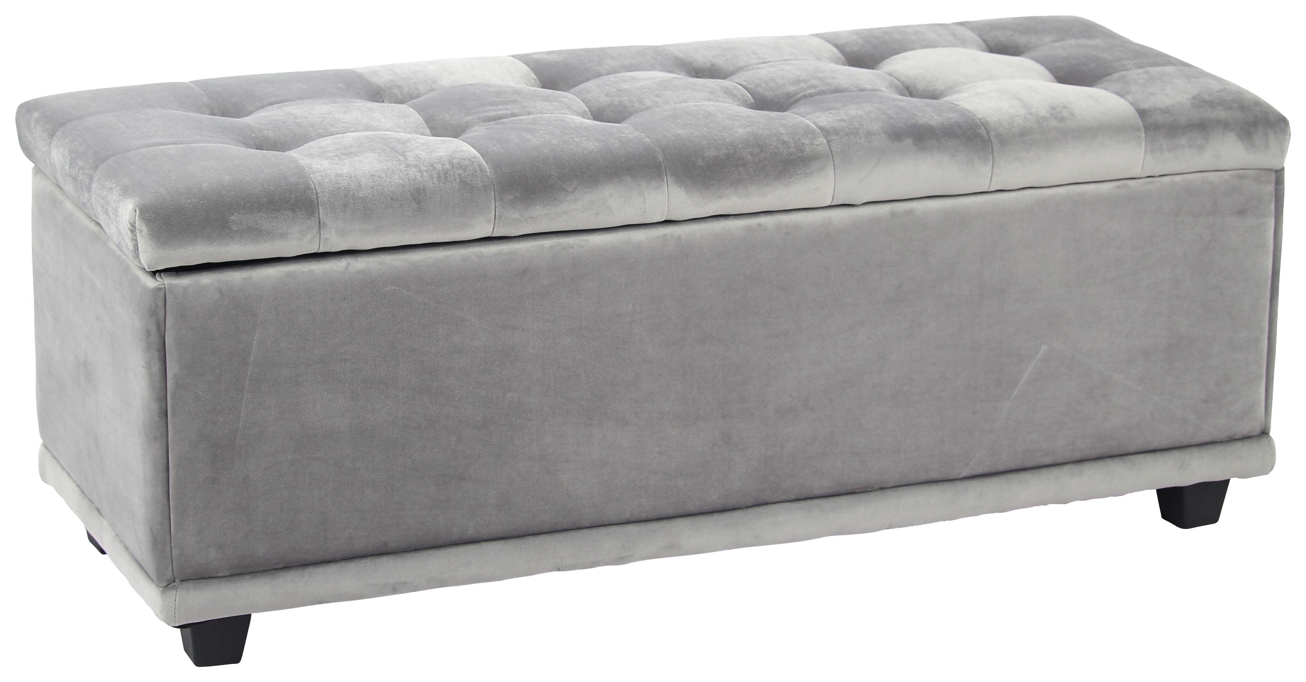 Sitzbank samt grau mit stauraum online kaufen ➤ möbelix