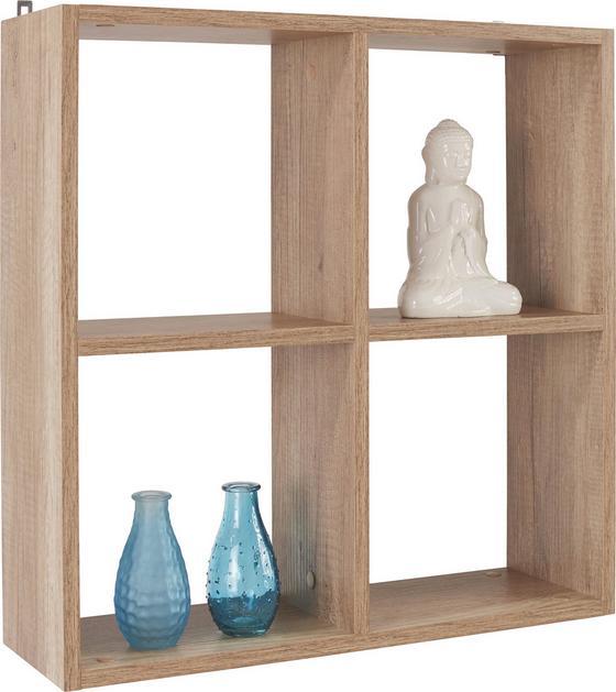 Regál Nástěnný Alex *cenový Trhák* - šedá, Moderní, dřevo (60/60/18cm)