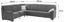 Sedacia Súprava Ruby - svetlosivá, Konvenčný, kov/drevený materiál (245/303cm)