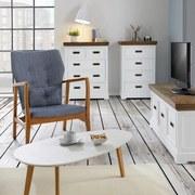 Komoda Melanie - biela/farby jasene, Moderný, drevo (60/95/40cm) - MODERN LIVING