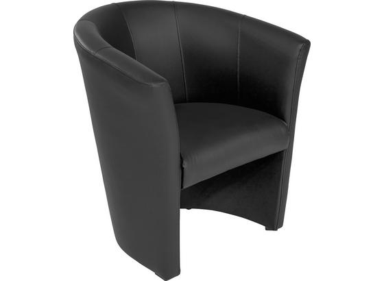 Křeslo Hugo - černá, Basics, textil (69/76/59cm) - Ombra