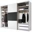 Schwebetürenschrank 298 cm Includo, Weiß - Anthrazit/Weiß, MODERN, Holzwerkstoff (298/222/68cm) - Bessagi Home