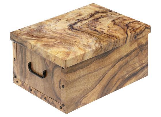 Aufbewahrungsbox Marie mit Deckel - 30 Liter - Multicolor, KONVENTIONELL, Karton/Kunststoff (50/40/25cm) - Luca Bessoni