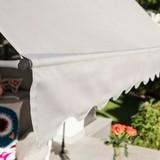 Markise Klemmmarkise 300x120 cm Grau - Hellgrau, Basics, Textil/Metall (300/120cm)