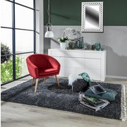 Relaxsessel Jannis - Rot/Naturfarben, LIFESTYLE, Textil (73/73/66cm)