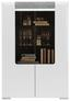 Vitrine Toronto - Silberfarben/Hellgrau, MODERN, Glas/Holzwerkstoff (100/146/42,2cm) - Ombra