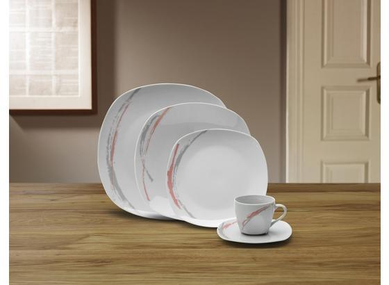 Kombiservice Babette - Pink/Weiß, ROMANTIK / LANDHAUS, Keramik - James Wood