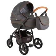 Kinderwagenset Neonex Alfa B: 78 cm Grau - Grau, Basics, Textil/Metall (78/30/60cm)