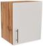 Küchenoberschrank Stella H50 - Eichefarben/Weiß, Holzwerkstoff (50/57/37cm) - Ombra