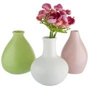 Váza Amelie - biela/zelená, keramika (10/16cm) - Mömax modern living