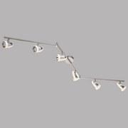 LED-Spotleuchte Tara - Chromfarben, Design, Kunststoff/Metall (150/19cm)