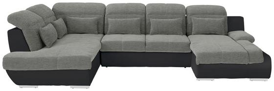 Sedací Souprava Multi - barvy stříbra/černá, Moderní, textil (228/83-94/345cm)
